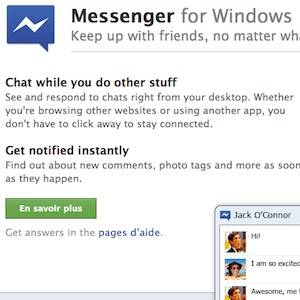 Facebook lance Messenger pour Windows, une version Mac arrive…