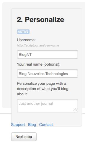 Générer un blog statique avec Drobpox et Scriptogr.am - Configuration du blog