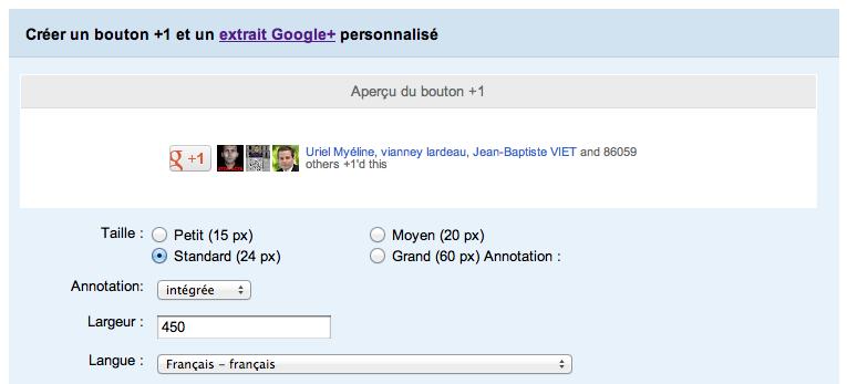 Google adopte un nouveau look pour son bouton +1 - Nouveau bouton