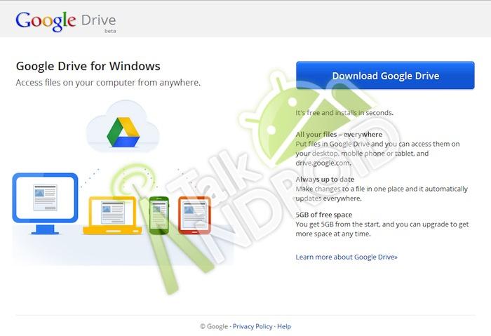 Google Drive préssenti pour 5 Go d'espace disque, une application mobile et édition de document