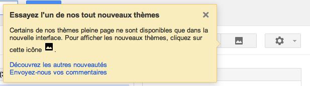 iGoogle y va de son petit changement d'interface - Modification du thème
