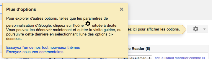 iGoogle y va de son petit changement d'interface - Options