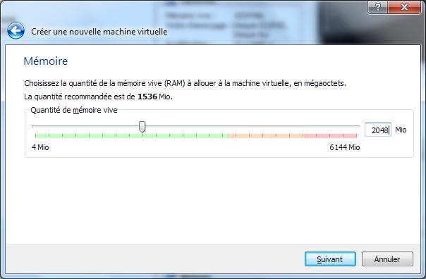 Installation de Windows 8 Consumer Preview dans une machine virtuelle (VirtualBox) - Taille mémoire