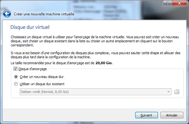 Installation de Windows 8 Consumer Preview dans une machine virtuelle (VirtualBox) - Disque virtuel