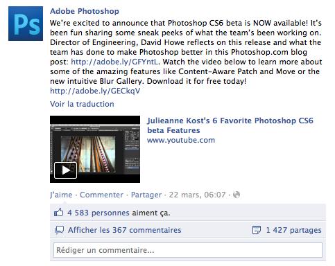 Photoshop CS6 beta voit plus d'un demi million de téléchargements en 6 jours