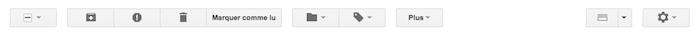 Préférer l'utilisation des textes dans Gmail aux icônes grâce à une option - Boutons icônes