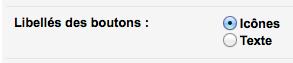 Préférer l'utilisation des textes dans Gmail aux icônes grâce à une option - Options