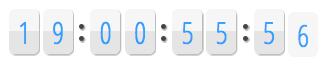 Un compte à rebours entièrement en jQuery - Changement de couleur