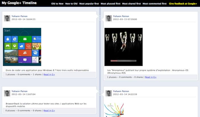 Voici comment vos publications Google+ pourraient s'afficher sur la Timeline de Facebook