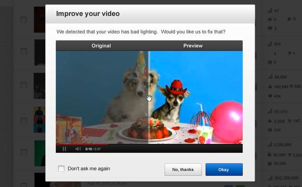 Youtube permet d'améliorer la qualité de vos vidéos en un seul clic