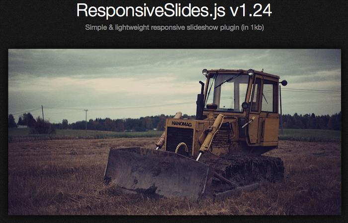 5 plugins jQuery libres à avoir pour les concepteurs Web - ResponsiveSlides.js