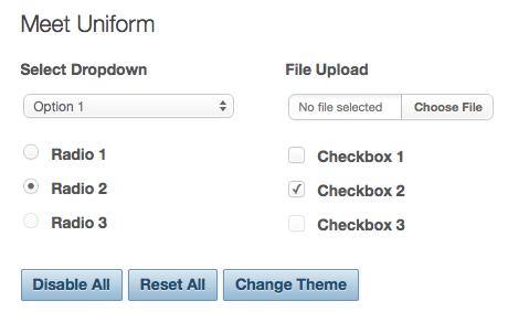5 plugins jQuery libres à avoir pour les concepteurs Web - Uniform