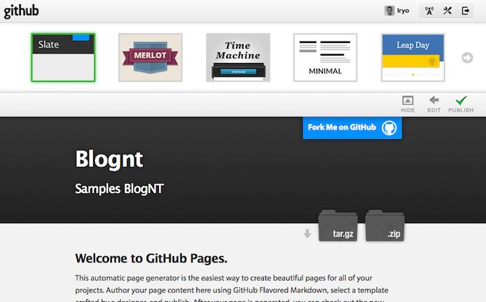 Automatic Page Generator : GitHub permet de générer votre propre skin pour vos pages de projet - Choix du thème
