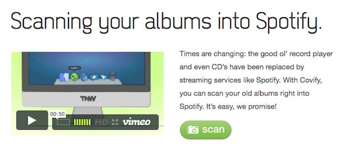 Covify vous permet de numériser vos vieux albums sur Spotify - Covify