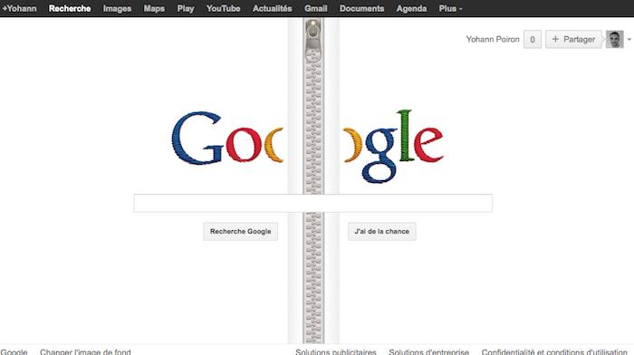 Dézipper la page d'accueil de Google pour mettre à l'honneur Gideon Sundback
