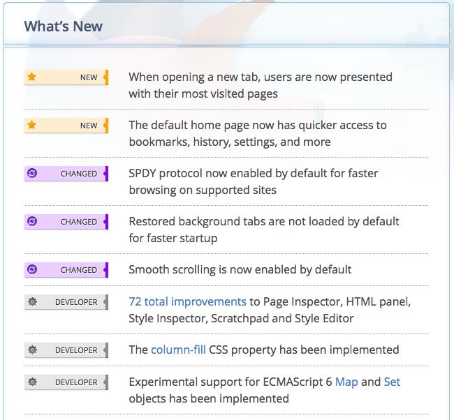 Firefox 13 bêta ajoute certaines mises à jour tant attendues - Liste mises à jour