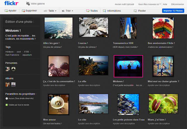 Flickr passe au HTML5 et permet l'upload de fichier de 50 Mo - Nouvel uploader Flickr