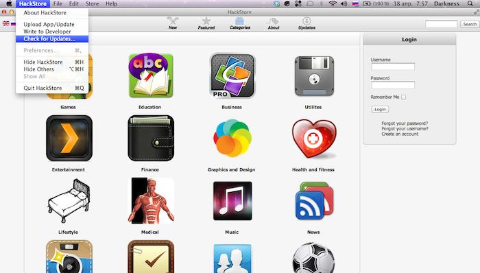 HackStore, le Cydia pour OS X officiellement lancé - Mises à jour du HackStore