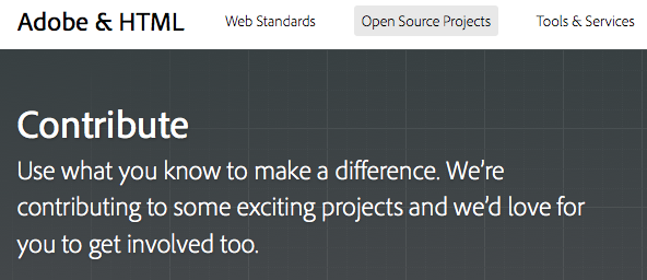 html.adobe.com : Une plateforme Adobe & HTML - Open Source Project