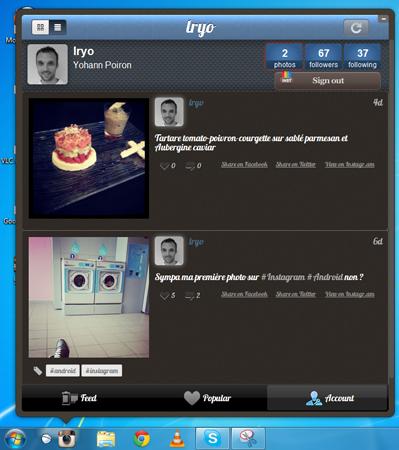 Instagrille une version de bureau d'Instagram sur Windows, et Carousel sur Mac - Profil Instagrille