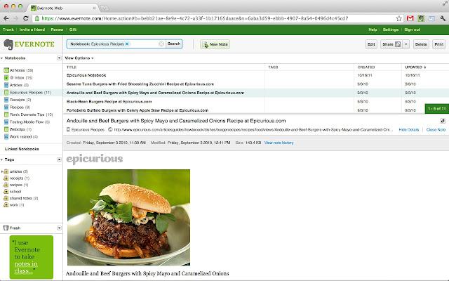 Les 10 meilleurs applications  extensions de Chrome pour les web designers - Evernote