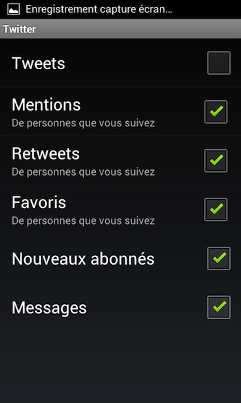 Mise à jour pour l'application Twitter sur iPhone et Android - Notifications des interactions