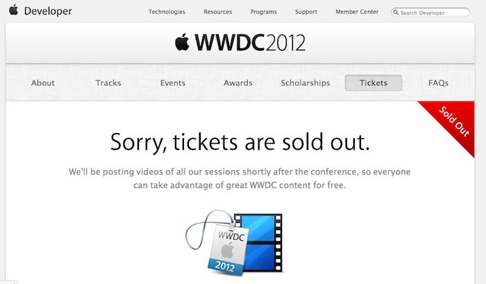 Que faire pour récupérer absolument un ticket pour la WWDC 2012 ?