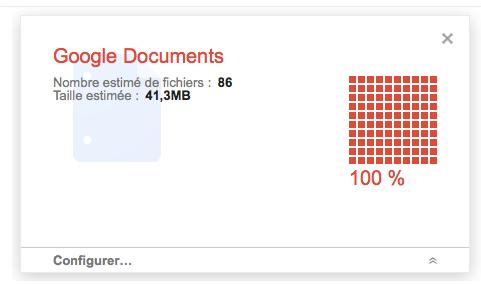 Sauvegarder tous vos documents Google Documents avec Google Takeout - Nombre de fichiers