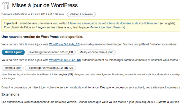 WordPress lance la version 3.3.2 corrigeant quelques problèmes de sécurité et 12 bugs