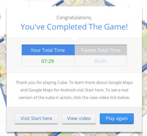 Cube : Explorez votre monde avec un jeu sur Google Maps, à l'adresse playmapscube.com