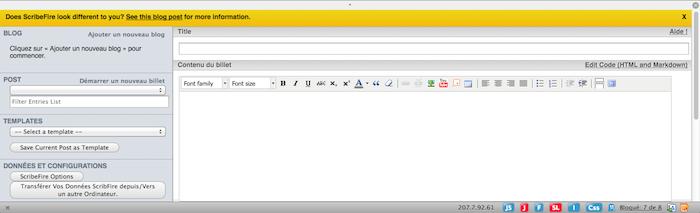 Des extensions Firefox que tout blogueur doit avoir ! - ScribeFire Next 4.0