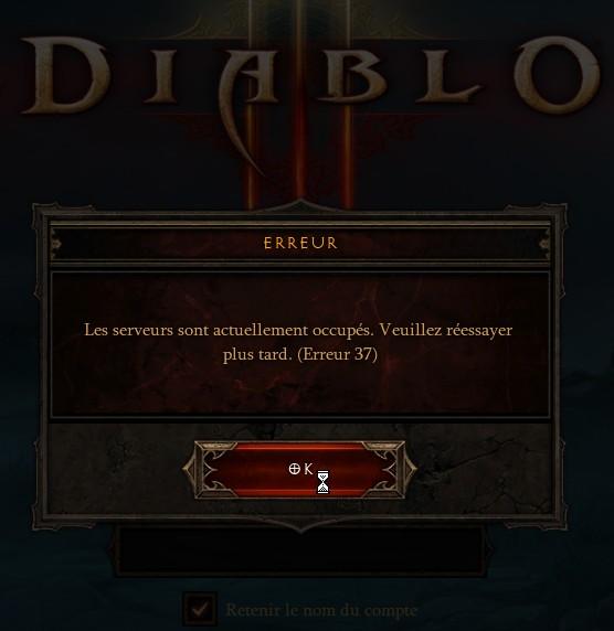 Diablo III, les erreurs 37 continuent toujours et encore...