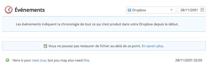 Dropquest II, la solution complète pour récupérer 1Go d'espace sur votre Dropbox - Utilisation des évènements