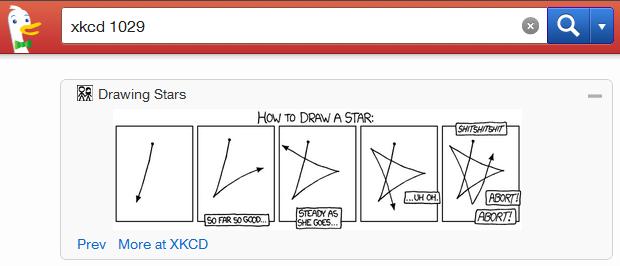 DuckDuckHack encourage la création de réponses instantanées - Plugin xkcd pour DuckDuckGo