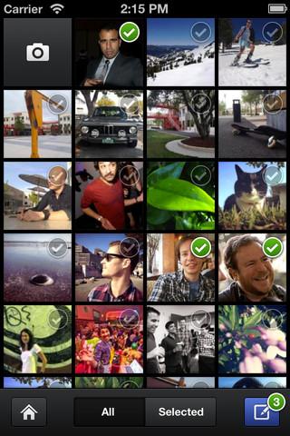 Facebook lance (enfin) son application photo pour iOS - Affichage en grille des photos des amis