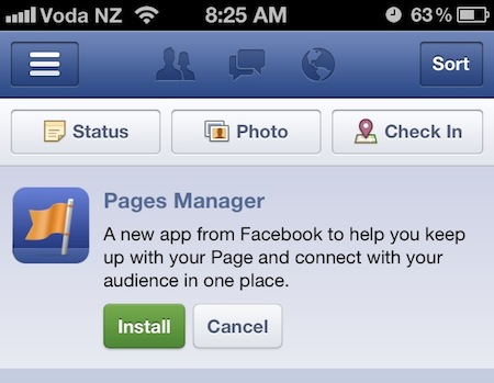 Facebook publie Pages Manager, une application dédiée aux marques et aux pages de fans - Installation de Pages Manager