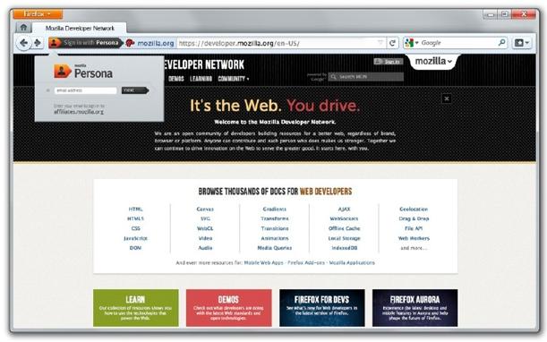 Firefox fusionne ses expériences de bureau et mobile en une seule - Persona de Firefox