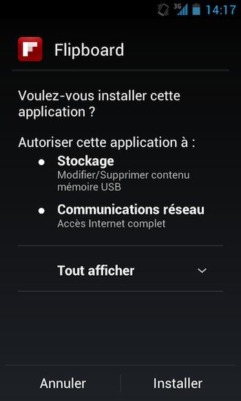 Flipboard débarque vos Android ! - Installation de Flipboard sur Android