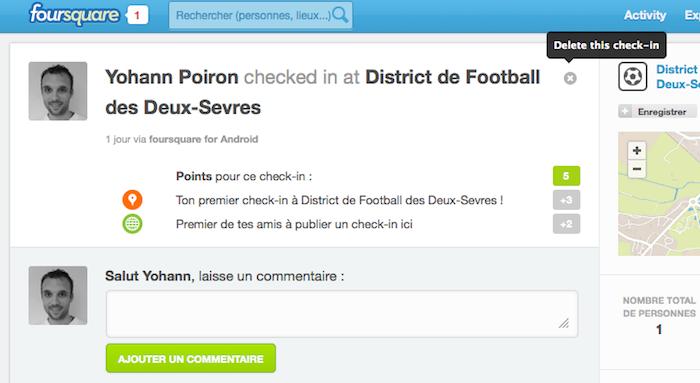Foursquare lance une page pour les historiques des check-ins