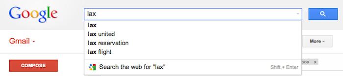 Gmail améliore la recherche dans l'autocomplete !