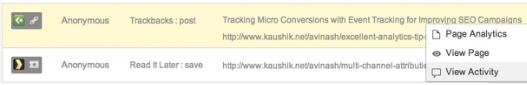 Google Analytics ajoute dans les rapports les URL des backlinks, et des titres des articles