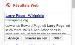 Google Docs introduit une nouvelle barre latérale qui rend la recherche plus rapide - Intégration d'un lien