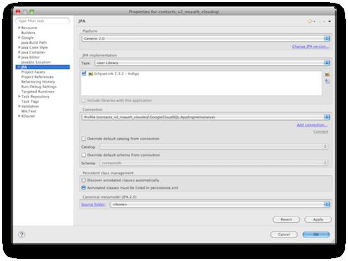 Google met à jour son plugin Eclipse avec plus d'APIs - Java Persistence API