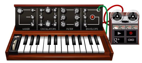 Google met à l'honneur Robert Moog avec un doodle synthétiseur en HTML5 !