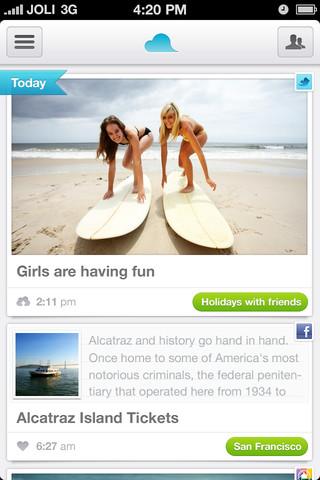 Jolicloud Me sur iOS est maintenant disponible sur l'App Store - Page d'accueil de l'application iOS