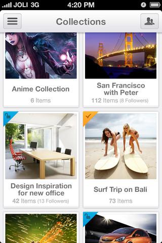 Jolicloud Me sur iOS est maintenant disponible sur l'App Store - Visualisation des collections