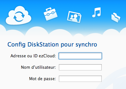L'application Cloud Station sur Mac lancée par Synology - Connexion à ezCloud