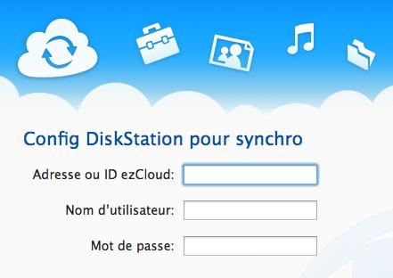 L'application Cloud Station sur Mac lancée par Synology - Connexion à ezCloud