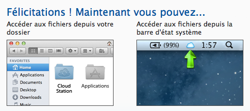 L'application Cloud Station sur Mac lancée par Synology - Guide d'utilisation de Cloud Station