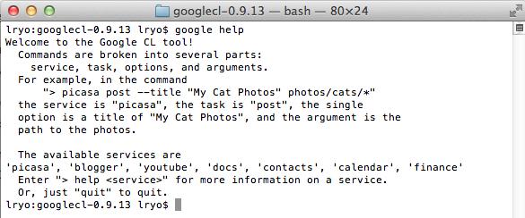 Le Guide du débutant pour utiliser GoogleCL - Exécution de commandes